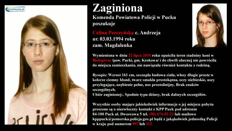 Poszukujemy zaginionej Celiny Perczyńskiej