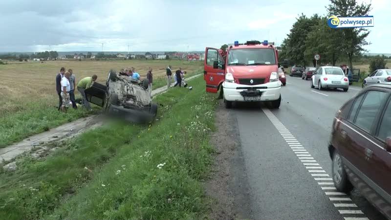 Wypadek samochodowy w Swarzewie